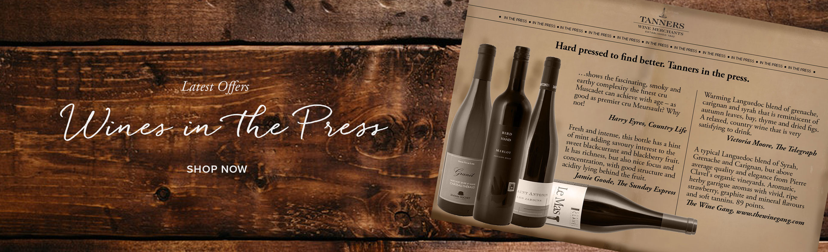 Sale Wines in the Press