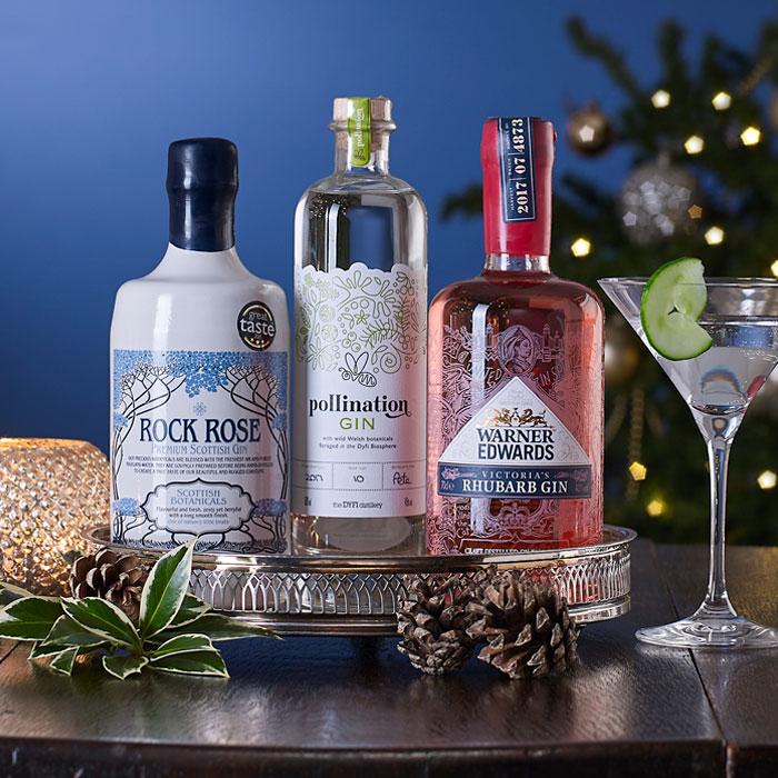Great British Gin Trio Christmas Gift