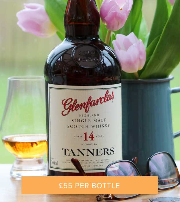 TANNERS 14 YEAR OLD GLENFARCLAS HIGHLAND SINGLE MALT, 46% VOL - GIFT BOXED