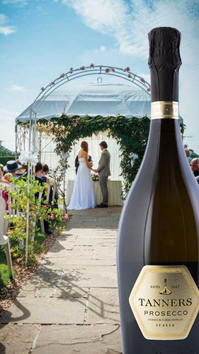 Tanners Prosecco - perfect for weddings